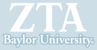 Zeta Tau Alpha / Baylor University - Car Decal