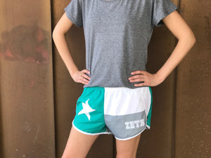 Texas Flag Sorority Shorts - Zeta Tau Alpha