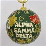 Kitty Keller Christmas Ornament - Alpha Gamma Delta