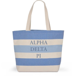 Striped Sorority Tote - Alpha Delta Pi
