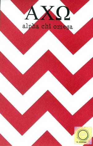 Chevron Notepad - Alpha Chi Omega