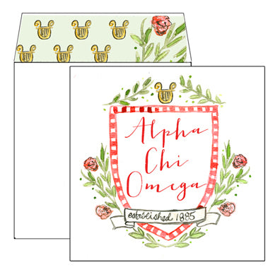 Sorority Greeting Card - Alpha Chi Omega