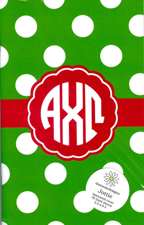 Jottie Lined Journal - Alpha Chi Omega