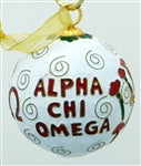 Kitty Keller Christmas Ornament - Alpha Chi Omega