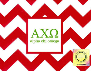 Chevron Notecards - Alpha Chi Omega