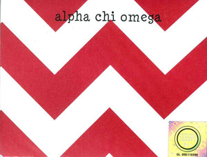 Small Chevron Notepad - Alpha Chi Omega