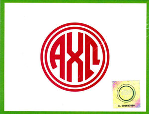Circle Monogram Notecards - Alpha Chi Omega
