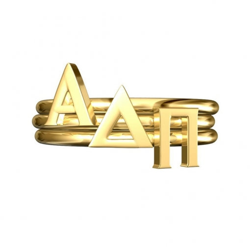 Greek Letter Stack Rings - Alpha Delta Pi