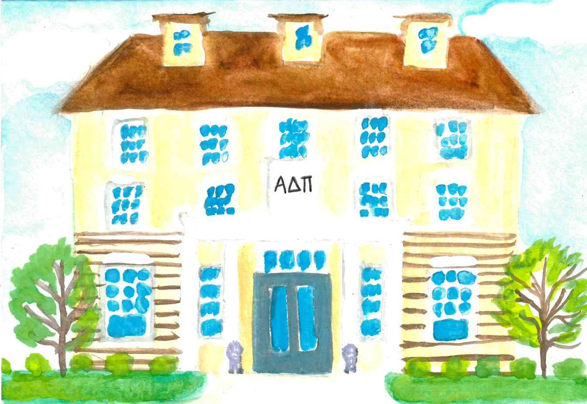 Sorority House Notecards - Alpha Delta Pi