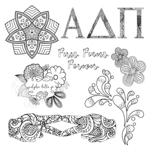 Adult Coloring Book - Alpha Delta Pi