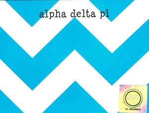 Small Chevron Notepad - Alpha Delta Pi