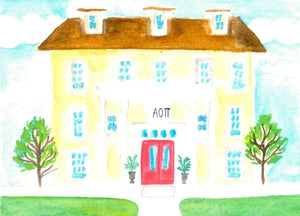 Sorority House Notecards - Alpha Omicron Pi