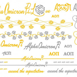 Metallic Temporary Jewelry Tattoo - Alpha Omicron Pi