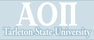 Tarleton State University Decal - Alpha Omicron Pi