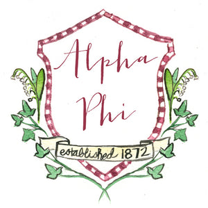 Crest Decal - Alpha Phi