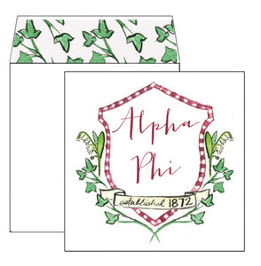 Sorority Greeting Card - Alpha Phi