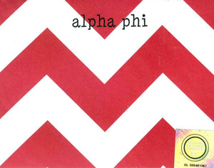 Small Chevron Notepad - Alpha Phi