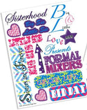 Sorority Craft Stickers - Alpha Phi