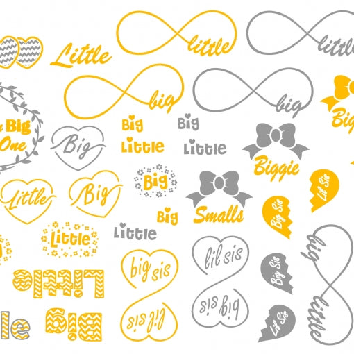 Metallic Temporary Jewelry Tattoo - Big/Little
