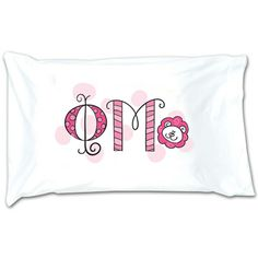 Sorority Pillowcase - Phi Mu