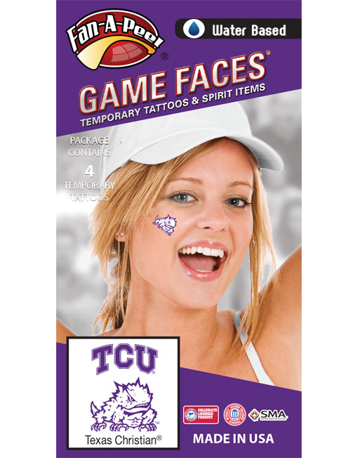 TCU Horned Frog Temporary Tattoos