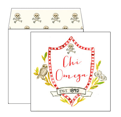 Sorority Greeting Card - Chi Omega