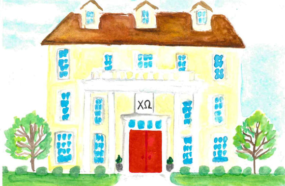 Sorority House Notecards - Chi Omega