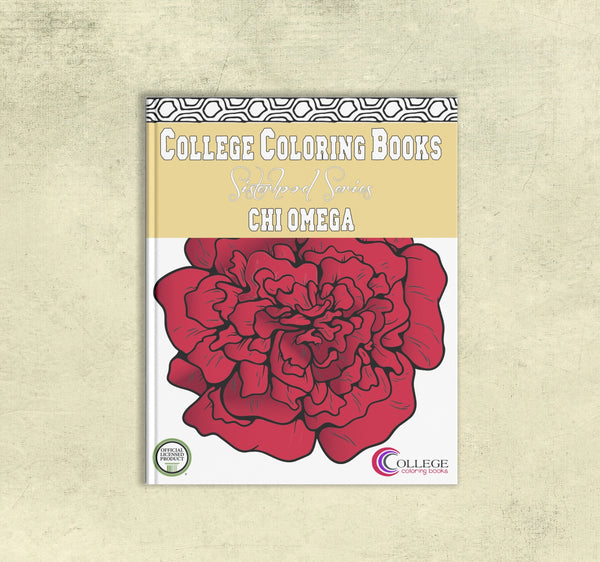 Adult Coloring Book - Chi Omega