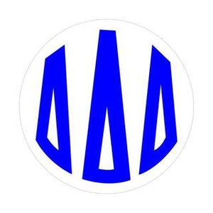 Color Monogram Decal - Delta Delta Delta