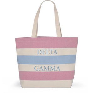 Striped Sorority Tote - Delta Gamma