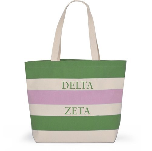 Striped Sorority Tote - Delta Zeta