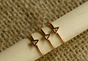 Greek Letter Stack Rings - Delta Delta Delta