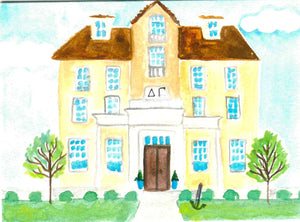Sorority House Notecards - Delta Gamma