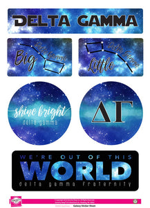 Galaxy Sticker Sheet - Delta Gamma