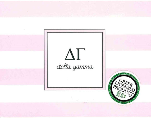 Stripe Notecards - Delta Gamma