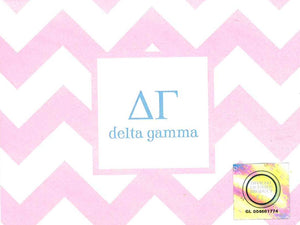Chevron Notecards - Delta Gamma