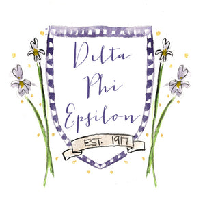 Crest Decal - Delta Phi Epsilon