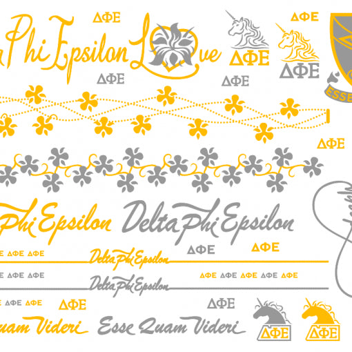 Metallic Temporary Jewelry Tattoo - Delta Phi Epsilon