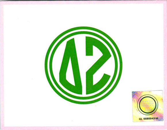 Circle Monogram Notecards - Delta Zeta
