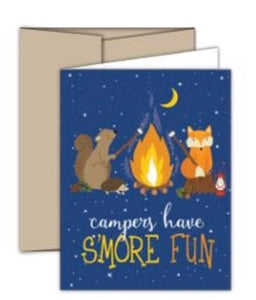 Folded Camper Greeting Cards