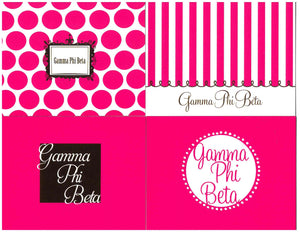 Multi-Design Notecards - Gamma Phi Beta