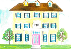 Sorority House Notecards - Gamma Phi Beta