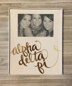 Frame with Printed Mat - Alpha Delta Pi