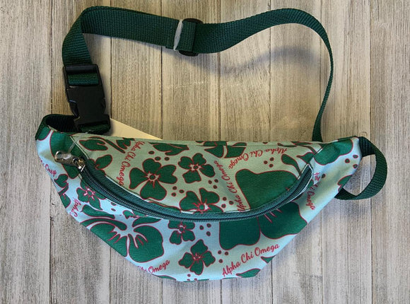 Printed Fanny Pack - Alpha Chi Omega