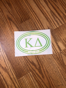 Circle Bumper Sticker - Kappa Delta