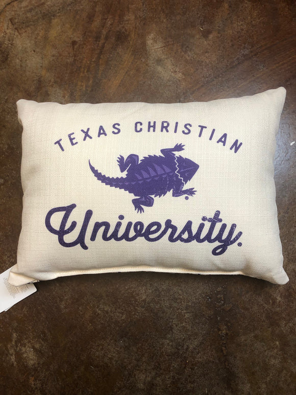 TCU Horned Frog Pillow