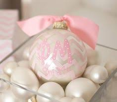 Chevron Sorority Ornament - Phi Mu