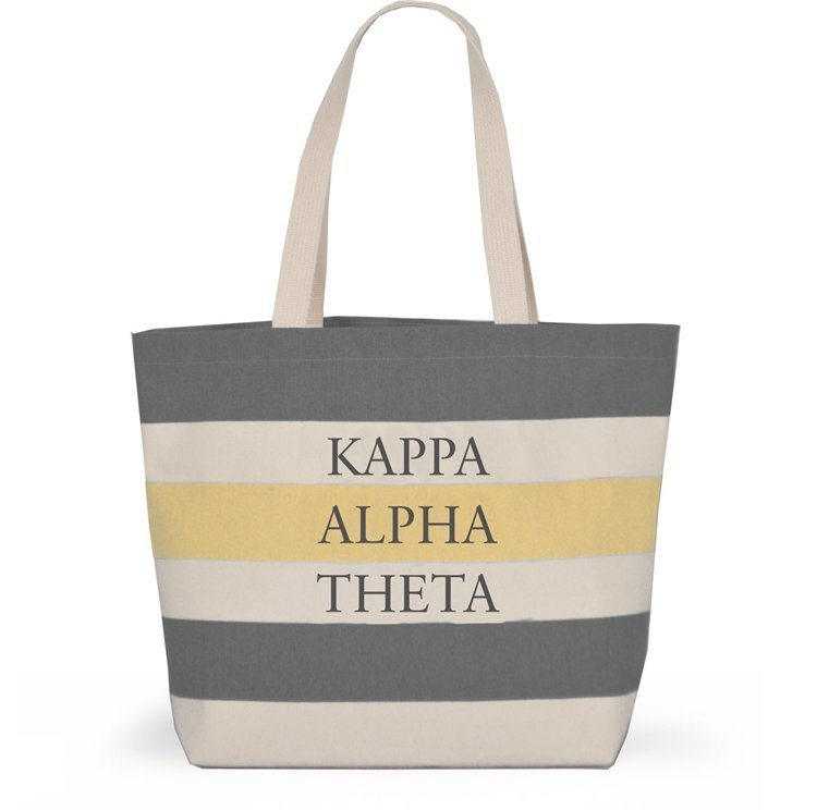 Striped Sorority Tote - Kappa Alpha Theta