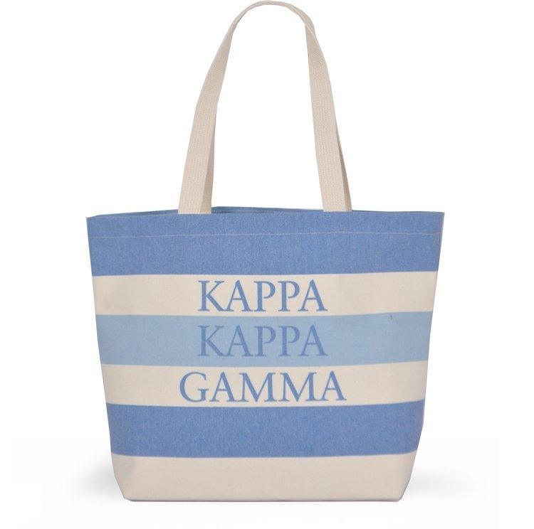 Striped Sorority Tote - Kappa Kappa Gamma