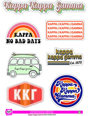 Retro Sticker Sheet - Kappa Kappa Gamma